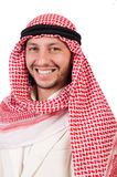 Hombre árabe aislado foto de archivo