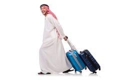 Hombre árabe con equipaje Foto de archivo libre de regalías