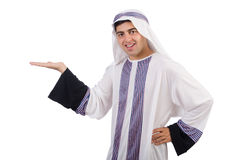 Hombre árabe divertido aislado Foto de archivo