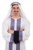 Hombre árabe divertido aislado Imagen de archivo libre de regalías