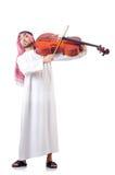 Hombre árabe que toca el violoncelo Imagen de archivo libre de regalías
