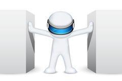 hombre 3d en vector Foto de archivo libre de regalías