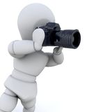 hombre 3D que usa una cámara libre illustration