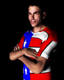 Hombre 6 de la camisa de los E.E.U.U. Imagen de archivo