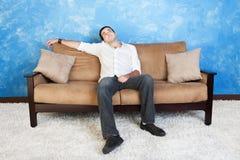 Hombre aburrido Fotografía de archivo libre de regalías