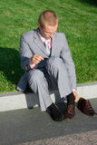 Hombre acertado Foto de archivo libre de regalías