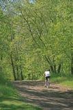Hombre activo en la bici Foto de archivo libre de regalías
