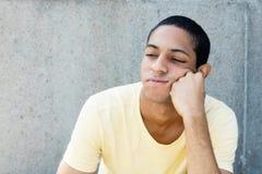 Hombre adulto joven egipcio triste Imagen de archivo libre de regalías
