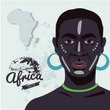 Hombre africano étnico stock de ilustración