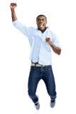 Hombre africano de salto Imágenes de archivo libres de regalías