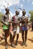 Hombres tribales africanos Imagen de archivo