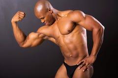 Hombre africano muscular Imagen de archivo libre de regalías