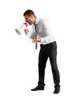 Hombre agresivo que grita Imágenes de archivo libres de regalías
