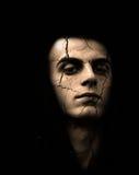 Hombre agrietado de la piel Imagen de archivo libre de regalías