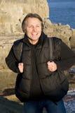 Hombre al aire libre sonriente feliz Fotografía de archivo