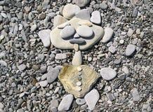 Hombre alegre de piedras del guijarro Fotografía de archivo