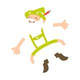 Hombre alpino feliz stock de ilustración