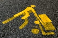 Hombre amarillo Imagen de archivo