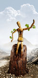 Hombre ambiental Foto de archivo libre de regalías