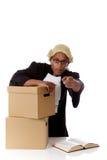 Hombre americano joven del juez, acusando Imágenes de archivo libres de regalías