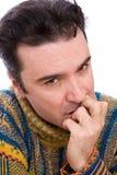 Hombre ansioso Imagen de archivo libre de regalías