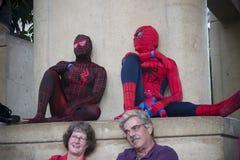 Hombre araña en el convenio de Balitmore Comicon fotos de archivo