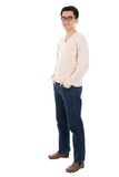 Hombre asiático casual del cuerpo completo de la vista delantera Fotografía de archivo libre de regalías
