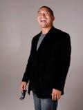 Hombre asiático de risa Imagenes de archivo