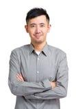 Hombre asiático en casual elegante Fotografía de archivo