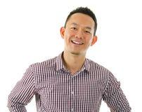 Hombre asiático ocasional fotografía de archivo libre de regalías