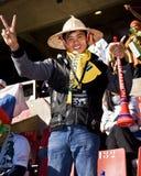 Hombre asiático - partidario del fútbol - WC 2010 de la FIFA Imagen de archivo libre de regalías