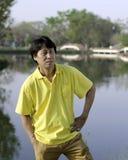 Hombre asiático mayor Imagenes de archivo