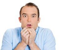 Hombre asustado Imagen de archivo libre de regalías