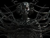 Hombre atado con alambre con estilo del cyber Imagenes de archivo
