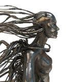 Hombre atado con alambre del cyber Imágenes de archivo libres de regalías