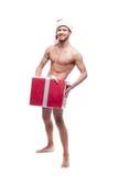 Hombre atractivo de la Navidad Foto de archivo
