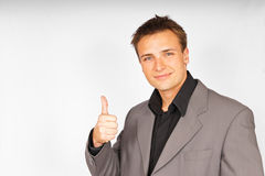 Hombre atractivo en juego Fotos de archivo libres de regalías