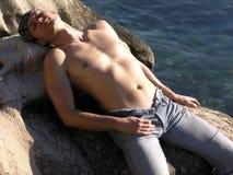 Hombre atractivo joven Imagen de archivo libre de regalías