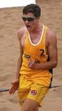 Hombre Australia del voleibol de la playa Fotografía de archivo libre de regalías