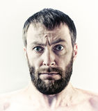 Hombre barbudo Foto de archivo libre de regalías