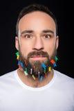 Hombre barbudo Fotografía de archivo libre de regalías
