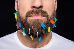 Hombre barbudo Imagen de archivo libre de regalías