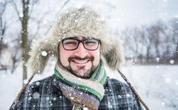 Hombre barbudo adulto Imagenes de archivo