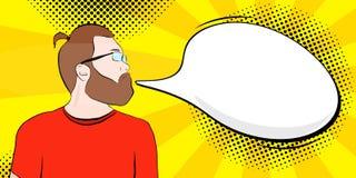 Hombre barbudo en el estilo libre illustration