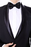 Hombre barbudo hermoso en traje negro Imagen de archivo