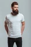 Hombre barbudo joven Foto de archivo libre de regalías