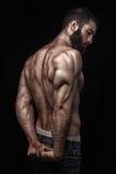 Hombre berdy atlético fuerte Fotografía de archivo