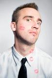 Hombre besado Fotos de archivo libres de regalías