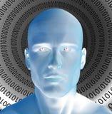 Hombre binario Imagen de archivo