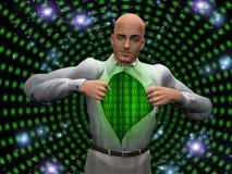 Hombre binario ilustración del vector